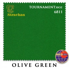 Сукно Strachan Snooker 6811 Tournament 30oz 193см Olive Green