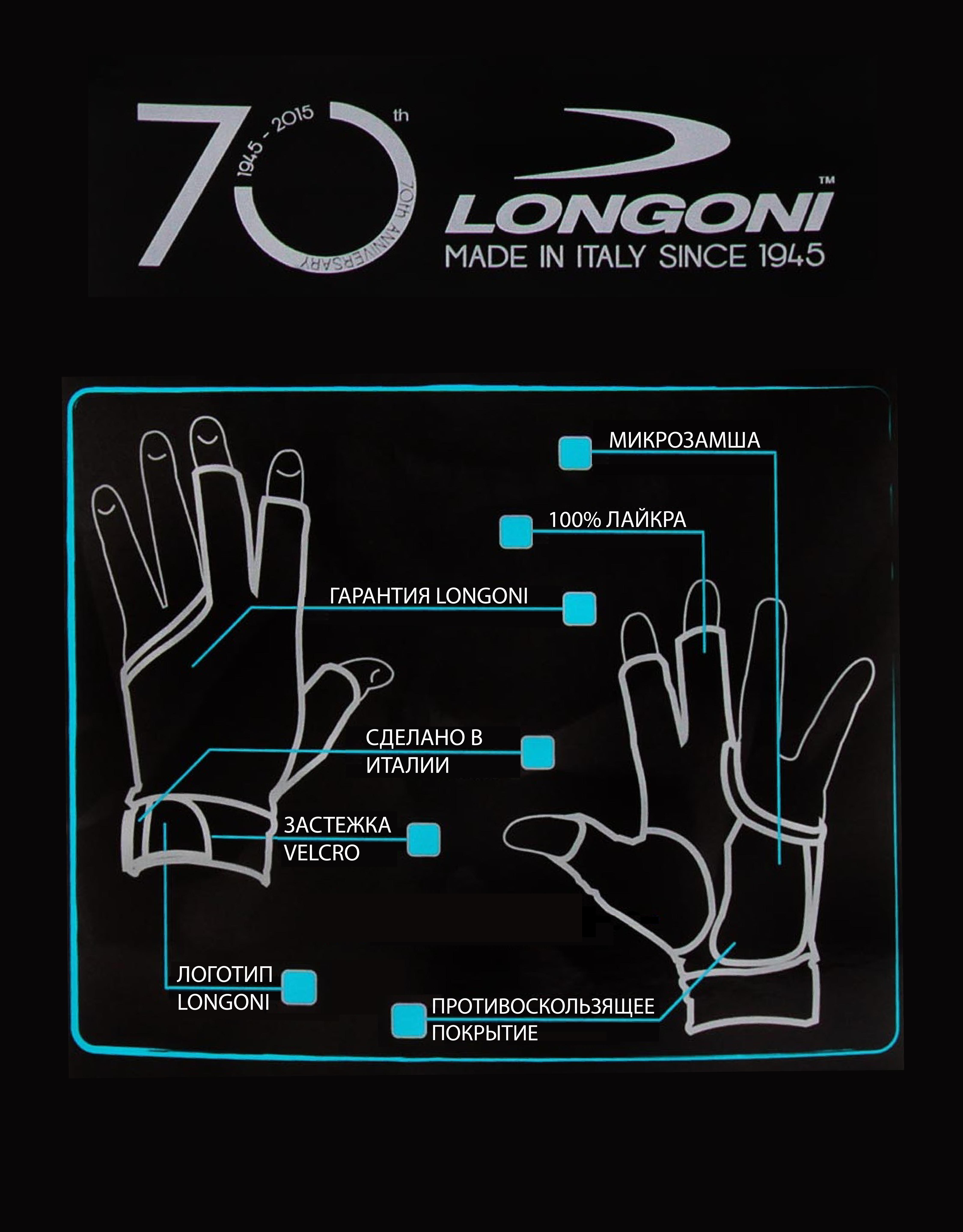 Перчатки для бильярда Longoni Sultan