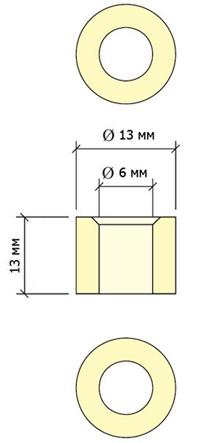 чертеж втулки JBR Piramide 13 мм